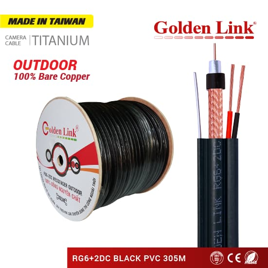 RG6 + 2DC Outdoor coaxial cable 305M