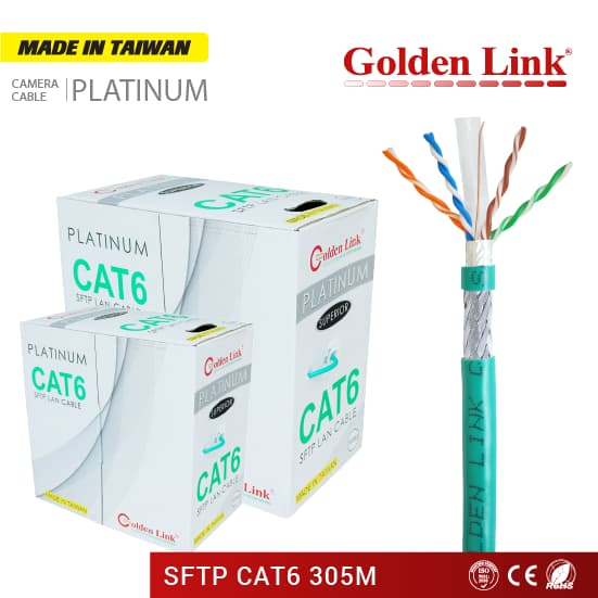 Golden Link Platinum SFTP Cat 6 network cable Made in Taiwan