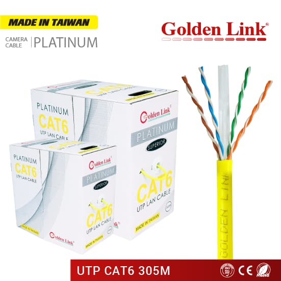 Golden Link Platinum UTP CAT 6 Network Cable Made in Taiwan