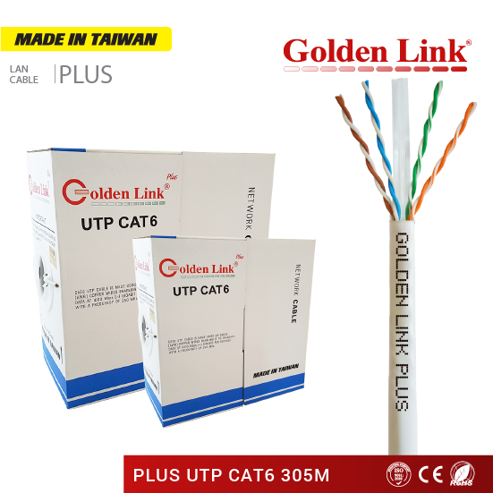 CÁP MẠNG Golden Link Plus UTP CAT6 MADE IN TAIWAN