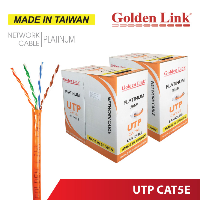 CÁP MẠNG Golden Link PLATINUM UTP CAT5E MADE IN TAIWAN