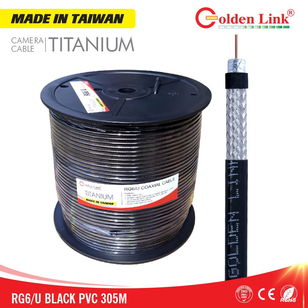 COAXIAL CABLE, CAMERA CABLE RG6/U MADE IN TAIWAN 305M
