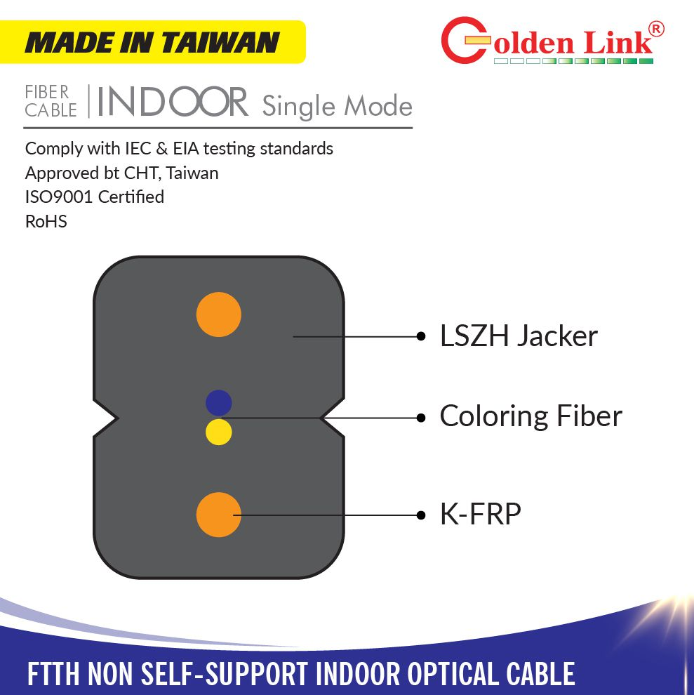 FTTH Non SeLF-support InDoor Optical Cable