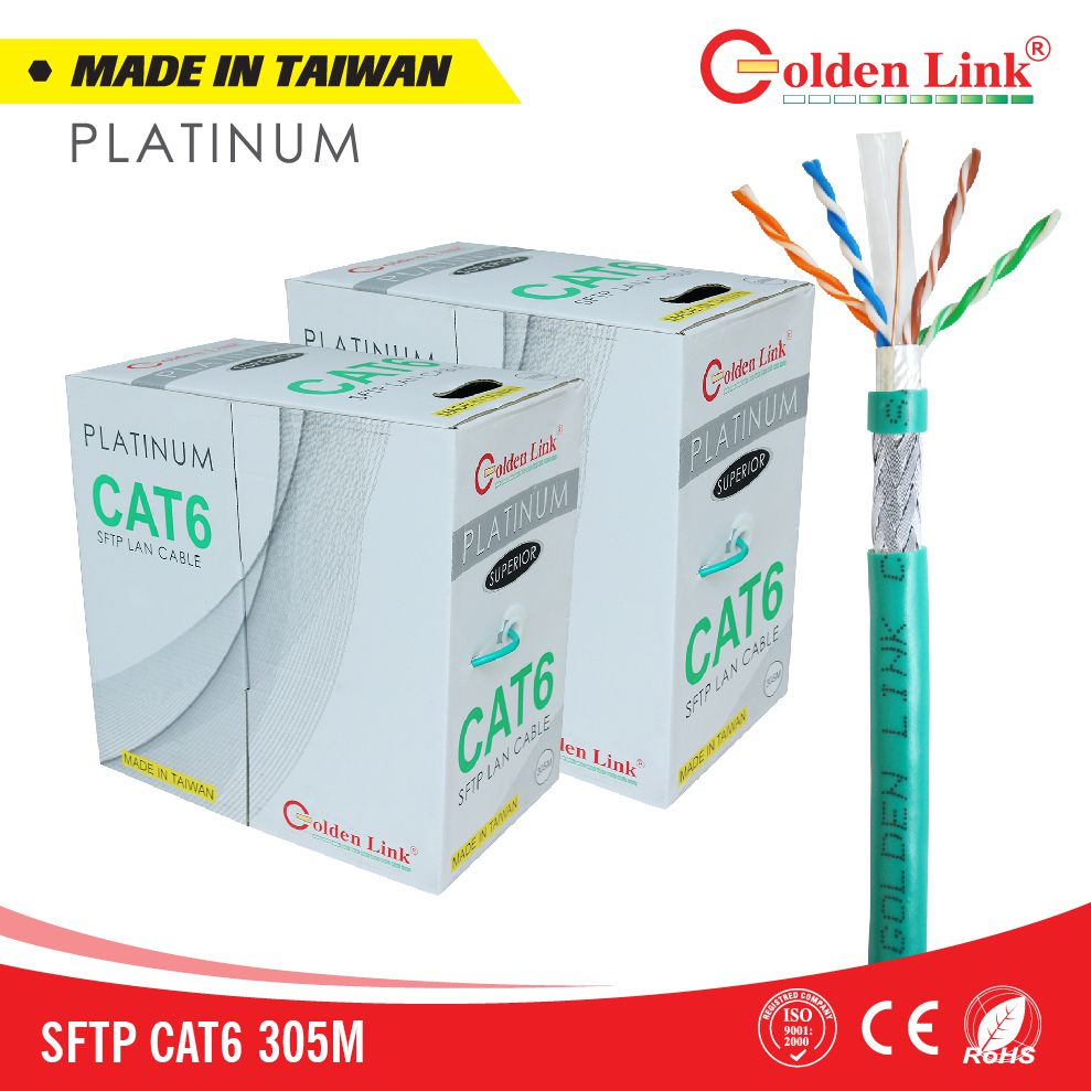 Cáp mạng Golden Link Platinum SFTP CAT 6 Made in Taiwan