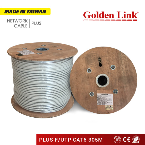 CÁP MẠNG Golden Link PLUS F/UTP CAT6 MADE IN TAIWAN